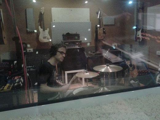 Carlo Poddighe alla batteria