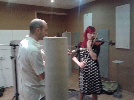 H.E.R. e Andrea Saponara al Poli Recording Studio