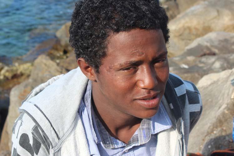 Emane (Eritrea), amico inseparabile di Biniam, visibilmente malato