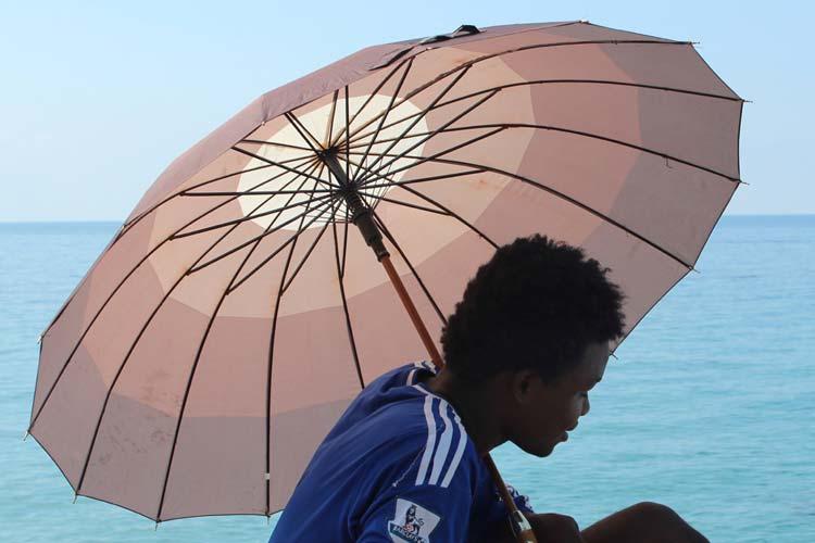 Tris (Libia) e il suo ombrello