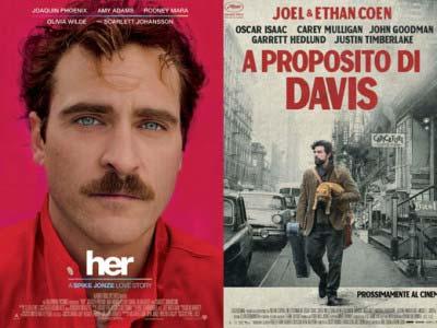 Inside Davis (A proposito di Davis) dei fratelli Coen vs Her (Lei) di Spike Jonze
